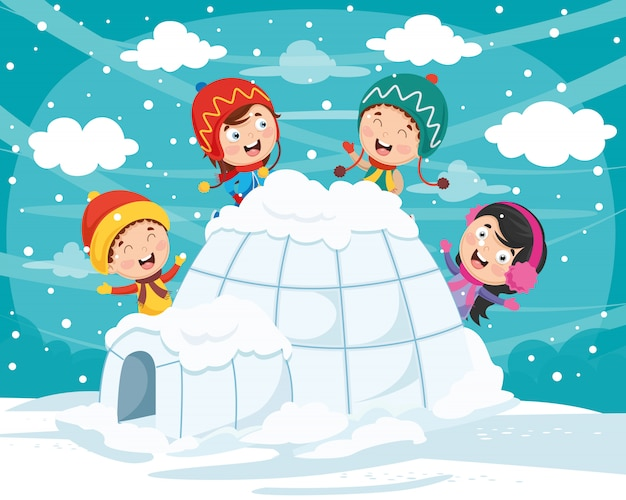 Illustration vectorielle d'igloo