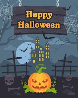 Illustration vectorielle, illustration d'arrière-plans halloween et citrouille, format eps 10