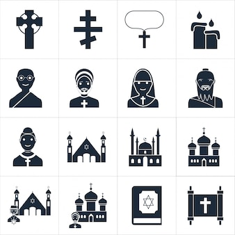 Illustration vectorielle d'illustration icônes religieuses