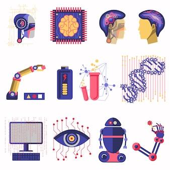 Illustration vectorielle de l'intelligence artificielle