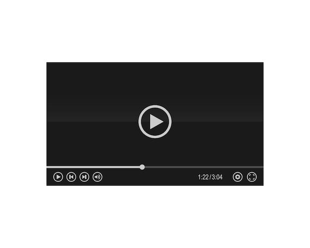 Illustration vectorielle d'interface de lecteur multimédia ou vidéo. lire la vidéo. vecteur eps10