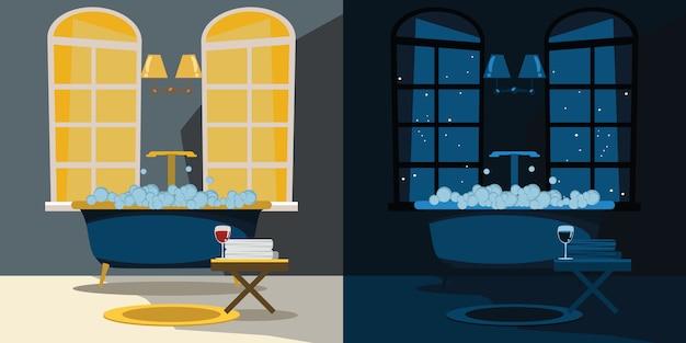 Illustration vectorielle intérieur de salle de bain
