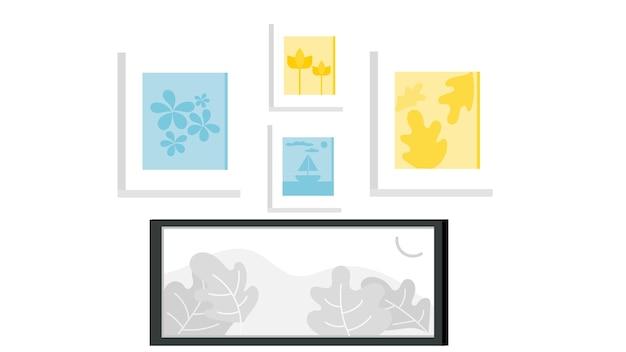 Illustration vectorielle isolé de photos