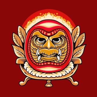 Illustration vectorielle japonaise daruma premium