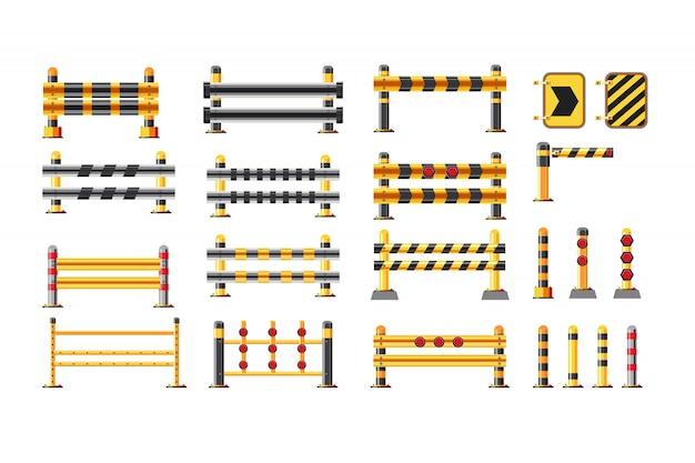 Illustration vectorielle d'un jeu de garde-corps