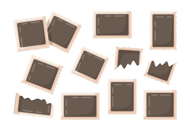Illustration vectorielle de jeu de photos