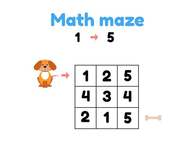Illustration vectorielle jeu pour les enfants d'âge préscolaire.