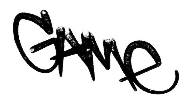 Illustration vectorielle jeu de tag graffiti noir lettrage aérosol peut peinture en aérosol