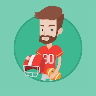 Illustration vectorielle de joueur de rugby.