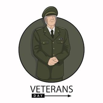 Illustration vectorielle de la journée des anciens combattants