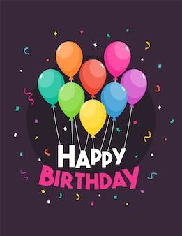 Illustration vectorielle de joyeux anniversaire modèle