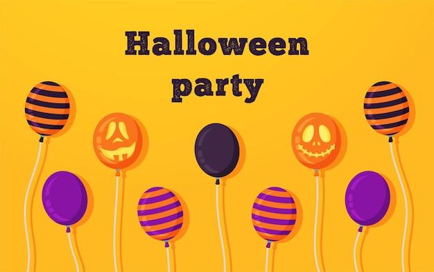 Illustration vectorielle d'un joyeux halloween. affiche pour les vacances d'halloween. sucettes effrayantes lumineuses.