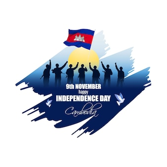 Illustration vectorielle de joyeux jour de l'indépendance du cambodge