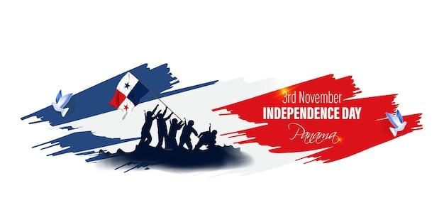 Illustration vectorielle de joyeux jour de l'indépendance du panama