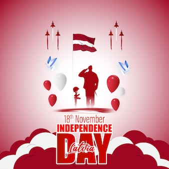Illustration vectorielle de joyeux jour de l'indépendance de la lettonie