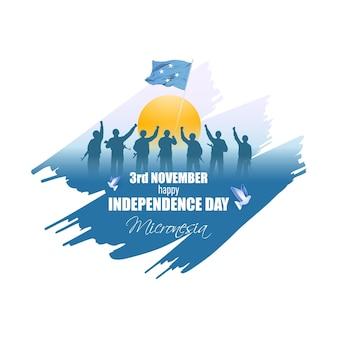 Illustration vectorielle de joyeux jour de l'indépendance de la micronésie