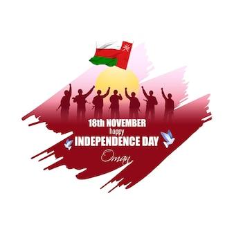 Illustration vectorielle de joyeux jour de l'indépendance d'oman