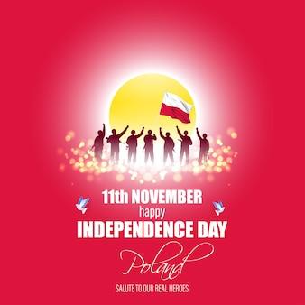 Illustration vectorielle de joyeux jour de l'indépendance de la pologne