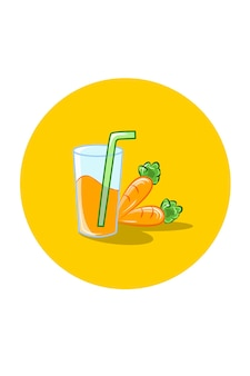 Illustration vectorielle de jus de carotte