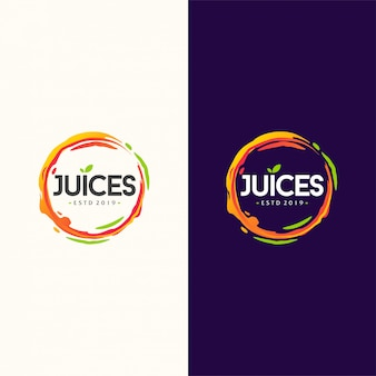Illustration vectorielle de jus logo design