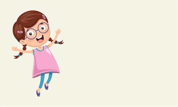 Illustration vectorielle de kid