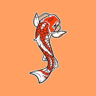 Illustration vectorielle de koi fish
