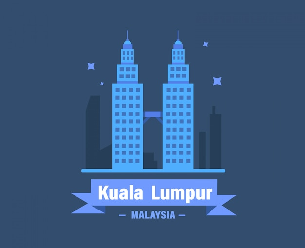 Illustration vectorielle de kuala lumpur. malaisie