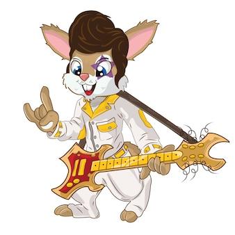 Illustration vectorielle lapin mignon avec fond blanc