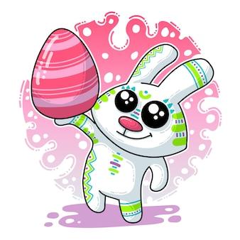 Illustration vectorielle sur le lapin de pâques