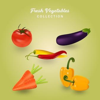 Illustration vectorielle de légumes frais