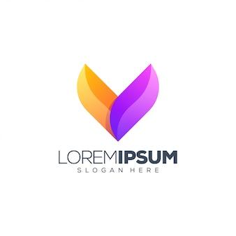 Illustration vectorielle de lettre v logo