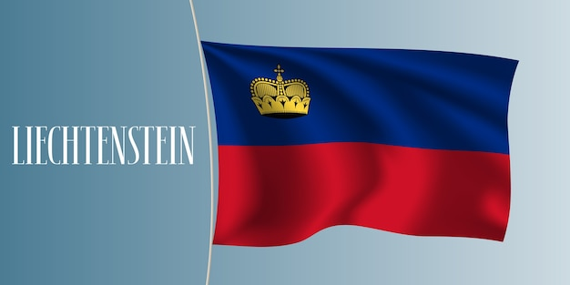 Illustration vectorielle de liechtenstein drapeau ondulant