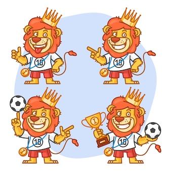 Illustration vectorielle, lion footballer partie 2, format eps 10