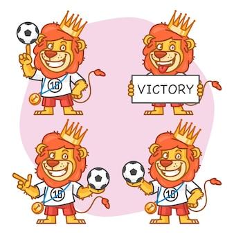 Illustration vectorielle, lion footballeur partie 3, format eps 10