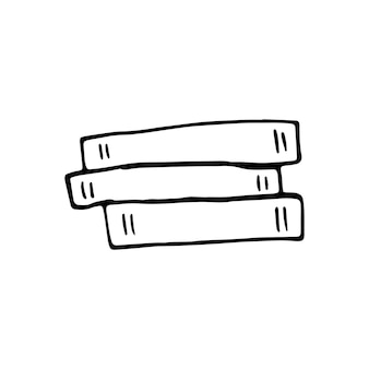 Illustration vectorielle de livre dessiné à la main doodle dans un style scandinave mignon