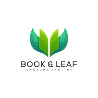 Illustration vectorielle de livre feuille concept