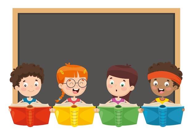 Illustration vectorielle de livre de lecture pour enfants