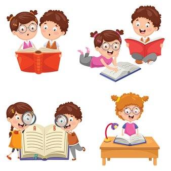 Illustration vectorielle de livre de lecture