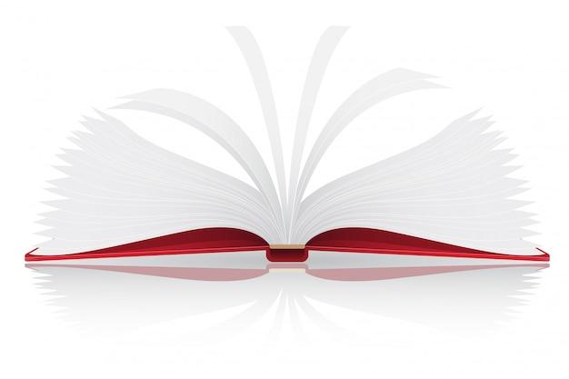 Illustration vectorielle de livre ouvert