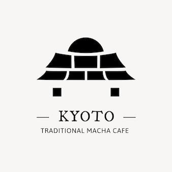 Illustration vectorielle de logo de marque de porte japonaise