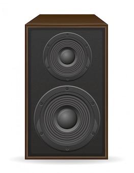 Illustration vectorielle de loundspeaker acoustique