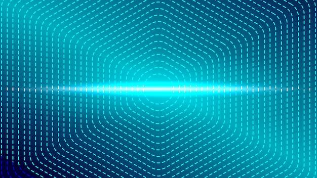 Illustration vectorielle de lumière bleue cadre technologie fond