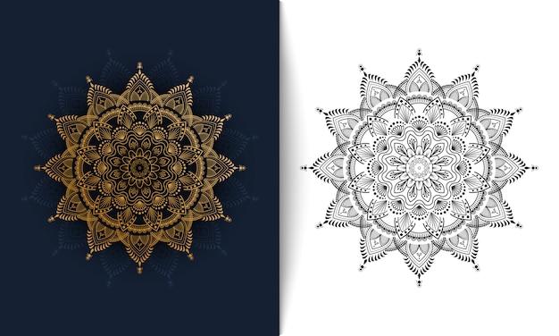 Illustration vectorielle de luxe ornemental mandala