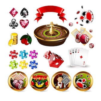 Illustration vectorielle de luxe rouge casino jeu fond