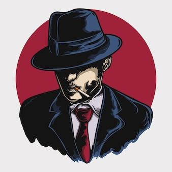Illustration vectorielle de la mafia