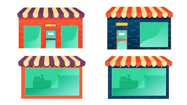 Illustration vectorielle de magasin pack isolé