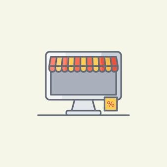 Illustration vectorielle de magasinage en ligne