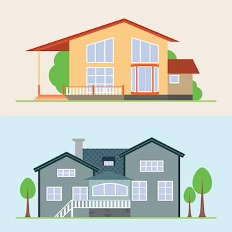 Illustration vectorielle de maison