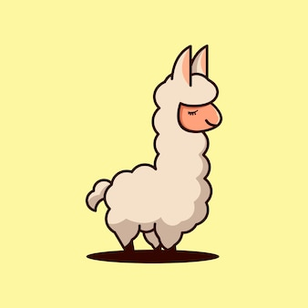 Illustration vectorielle de mascotte animale logo design