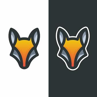 Illustration vectorielle de mascotte logo tête fox